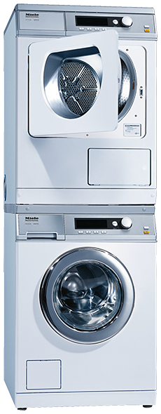 Miele PW6065 + PT7136 washer-dryer stack