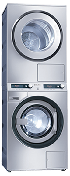 Miele PWT6089 + PT7189 washer-dryer stack
